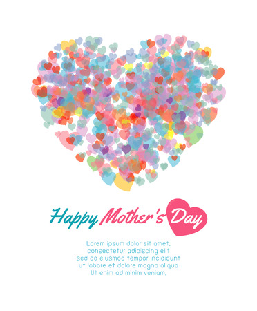 Happy mother day background with heart, Card of Happy Mothers Day. happy mothers day card vector illustration
