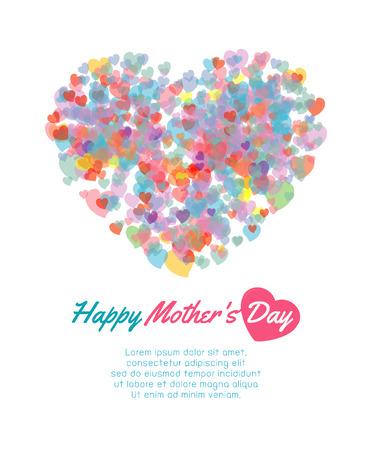 Gelukkige moederdag achtergrond met hart, Kaart van de Gelukkige Moedersdag. Gelukkige moeders dagkaart vector illustratie Stockfoto - 55594756