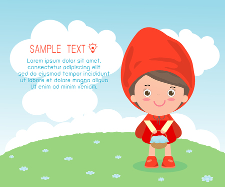 little red riding hood: The greeting card Little Red Riding Hood Fairy Tale, Illustration of little red riding hood,Little Red Riding Hood, Vector Illustration: