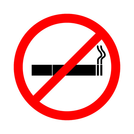 pernicious habit: No smoking sign on white background, No Smoking Sign , stop smoking, No Smoking Vector Illustration.