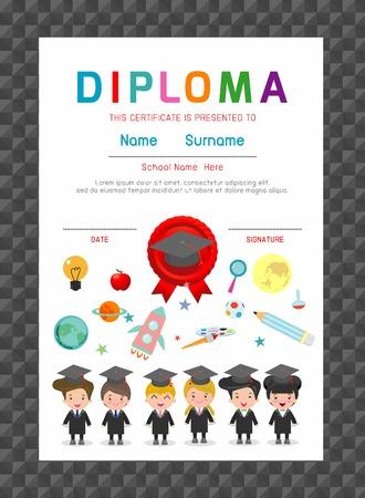 Certificates kindergarten and elementary, Kids Diploma, certificate background template, children Diploma, Certificates, Diploma, Diploma template, Certificates template,Certificate of kids diploma
