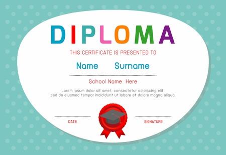 elementary kids: Certificates kindergarten and elementary, Kids Diploma, certificate background template, children Diploma, Certificates, Diploma, Diploma template, Certificates template,Certificate of kids diploma