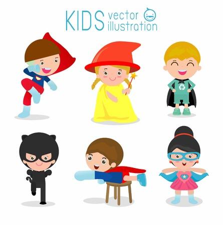 I bambini con costumi impostati Archivio Fotografico - 58452706