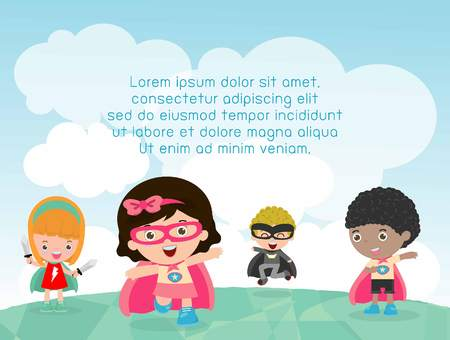 kinder garden: kids with costume at playground