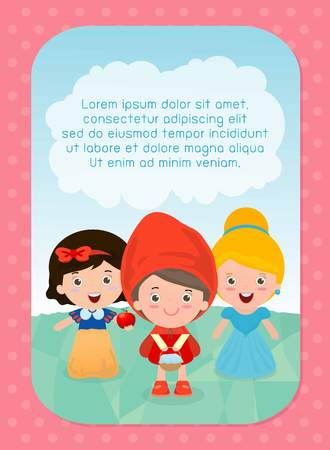 little child: background with kids, Girl in fairy tales, Template for advertising brochure,your text ,Cute little Children in fairy tales, Kids in fairy tales and frame,child and frame, kids and fairy tale story.