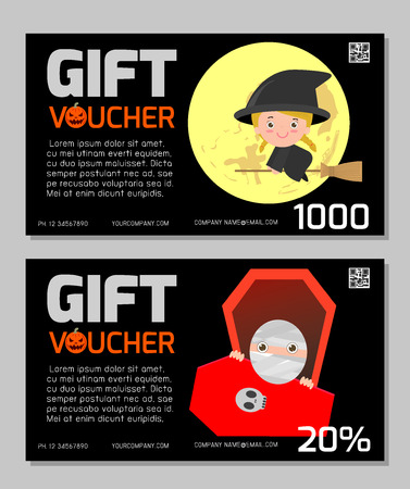 gift pattern: Gift Voucher template with colorful pattern