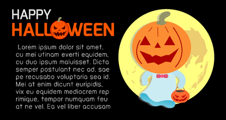 poster design: Happy Halloween Poster Party and theme design background