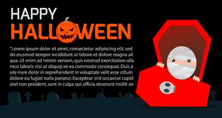 Happy Halloween Poster Party and theme design background