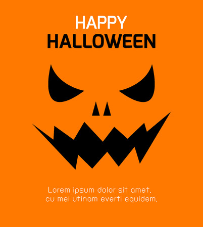 31: Happy Halloween Poster Party and theme design background, Template for advertising brochure,your text, Vector Illustration