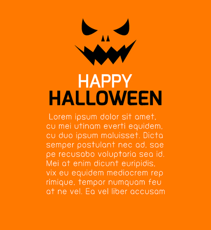 advertising text: Happy Halloween Poster Party and theme design background, Template for advertising brochure,your text, Vector Illustration