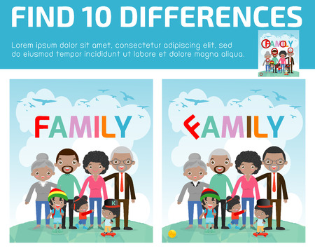 preschool child: find differences,Game for kids ,find differences,Brain games, children game, Educational Game for Preschool Children, Game for child,find 10 differences,family, kids game, children game, game, kids