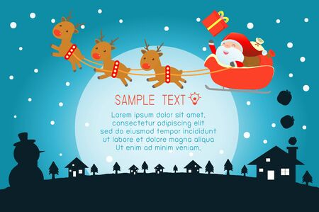Merry Christmas, Santa Claus,Template for advertising brochure,your text ,Santa Claus and frame,Happy new year,card vector Illustration