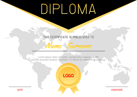 Certificate template with luxury and modern patterndiploma certificate template with luxury and modern patterndiploma certificate background design templatediploma yelopaper Choice Image