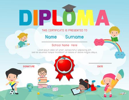 Certificados De Jardín De Infantes Y Elemental, Preescolar Diploma ...