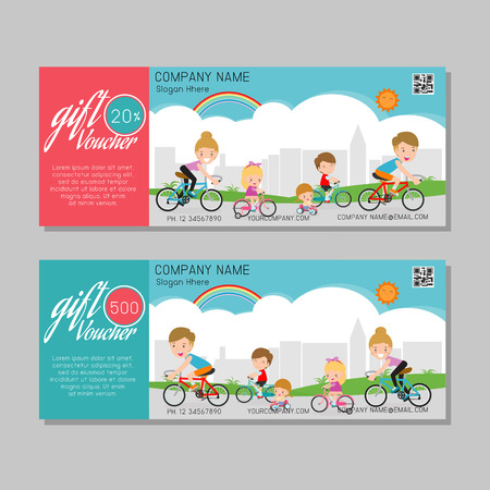 Gift voucher template and modern pattern. kids concept. Voucher template with premium pattern, gift Voucher template with colorful pattern. bright concept. Vector illustration