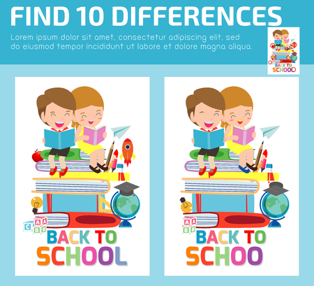 find differences, Game for kids ,find differences, Brain games, children game, Educational Game for Preschool Children,Vector Illustration 일러스트