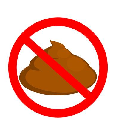 No poop vector sign illustration isolated on white background Ilustração