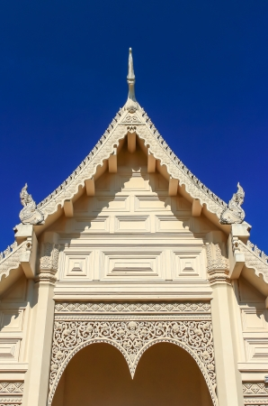 temple in thailand and blue sky