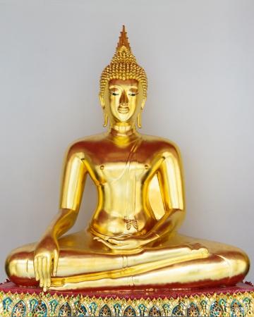 sitting buddha statue gold Stock Photo