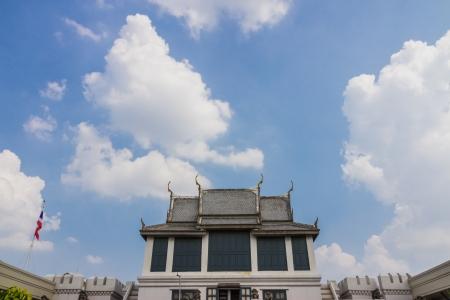 The temple thai style at emeral buddha temple bangkok,thailand