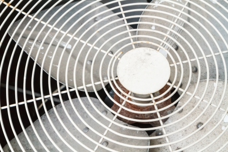 close up old electric fan aircondition Stock Photo