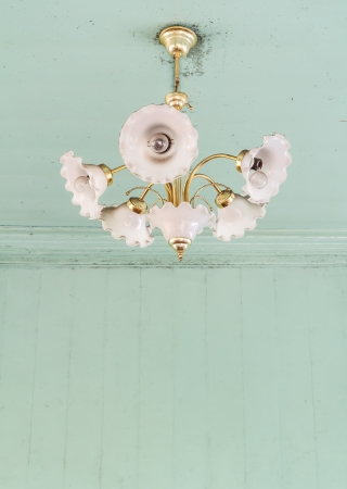 Vintage chandelier with space for text