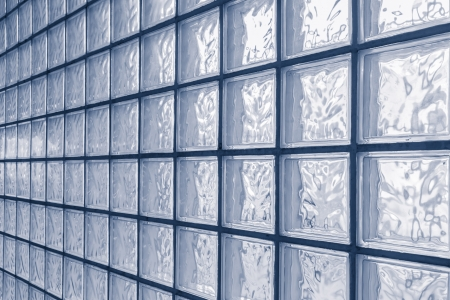 Pattern of glass block wall Stock Photo