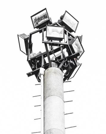 Stadium halogen spot light pole isolated Stock Photo
