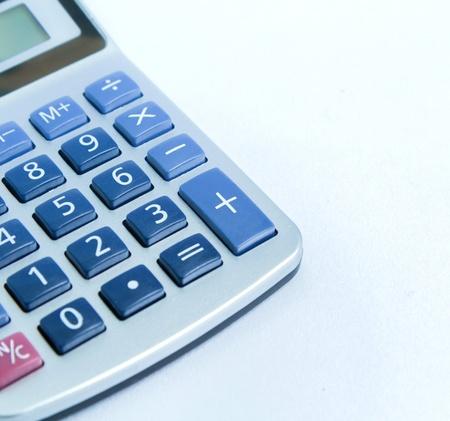 balancesheet: close up calculator isolate on white Stock Photo