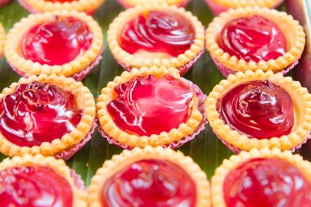 handmade cookie with strawberry jam