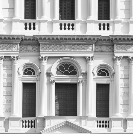 European style gray door of building in Grand Palace Editorial