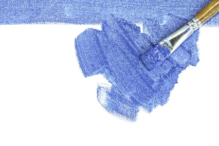 brush stroke on white background Stock Photo
