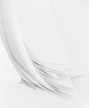 abstract image of  sheets white paper wave shape Stock Photo
