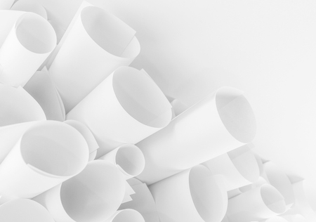 furl: roll paper abstract background Stock Photo