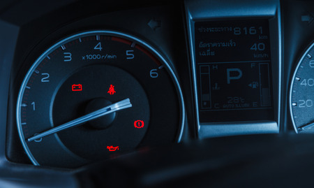 tachometer in new car interiors