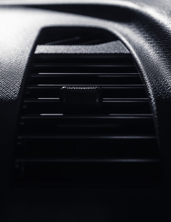 Air conditioner in modern car Stock Photo