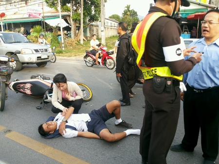 Accident involving a thai student