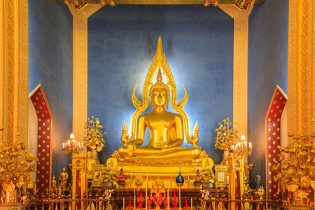 Temple in Bangkok, Beautiful Thai Temple Wat Benjamaborphit in Thailand photo