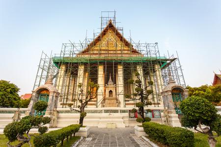 Temples in Bangkok under renovation photo