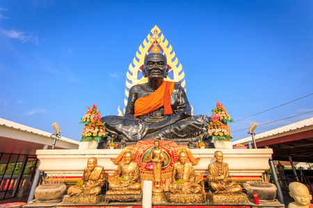 Big blsck Buddha Stature in Thailand photo