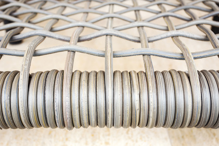 Plastic weave pattern for furniture Stock Photo
