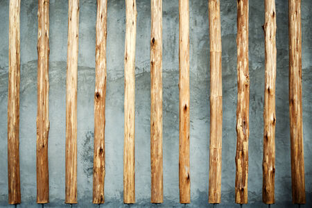 Abstract of tree logs on the wall photo