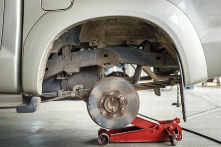 Close up disc break in maintenance process