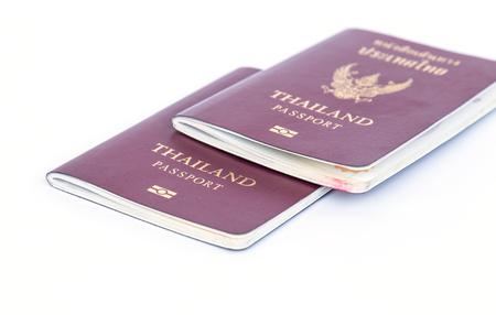 Thailand Passports isolated on white background Stock Photo
