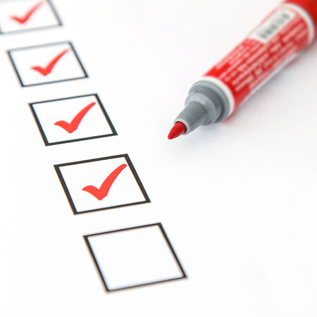 blank checkbox Stock Photo