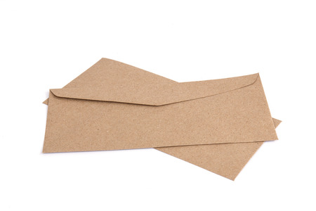 Brown envelope made by recycled paper Stock Photo