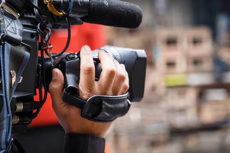 Kameramann auf der Straße Standard-Bild - 33132262