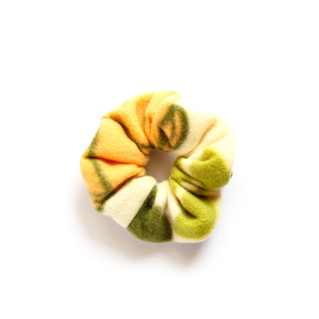 scrunchie: hair scrunchy isolated on white Stock Photo
