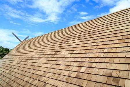 Wooden roof Shingle texture Archivio Fotografico