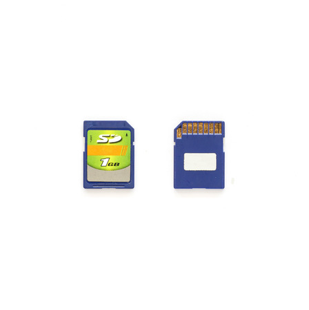 mmc: memory cards isolated on the white background Stock Photo